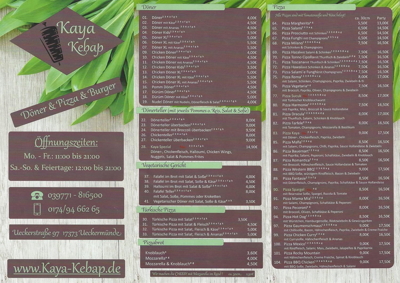 Vollbild Karte Außen Kebab