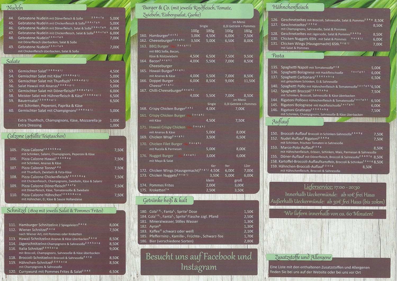 Vollbild Karte Innen Kebab